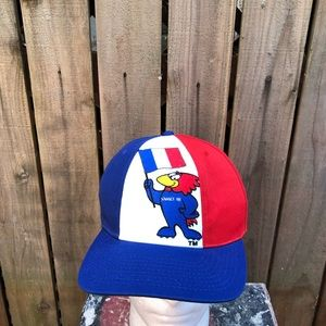 Vintage World Cup 1998 France Soccer Snapback hat